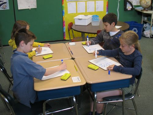 Using whiteboards for math