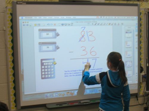 We LOVE our new Smartboard!