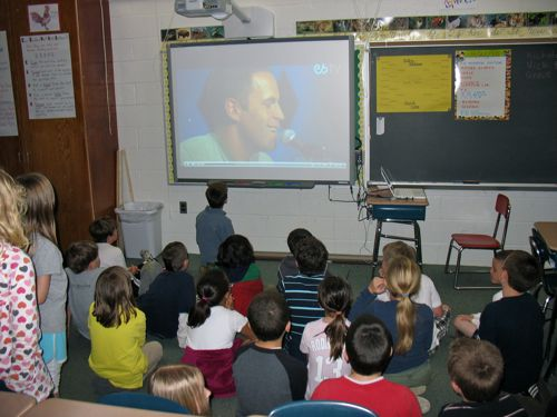 Sing-along with the Smartboard