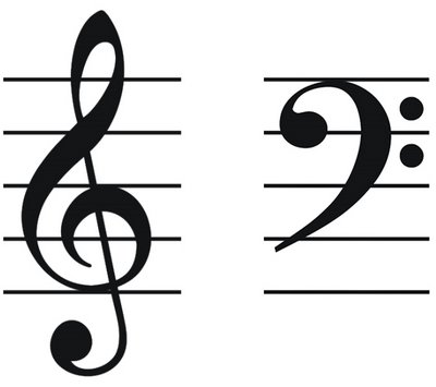 notes for bass clef and treble clef